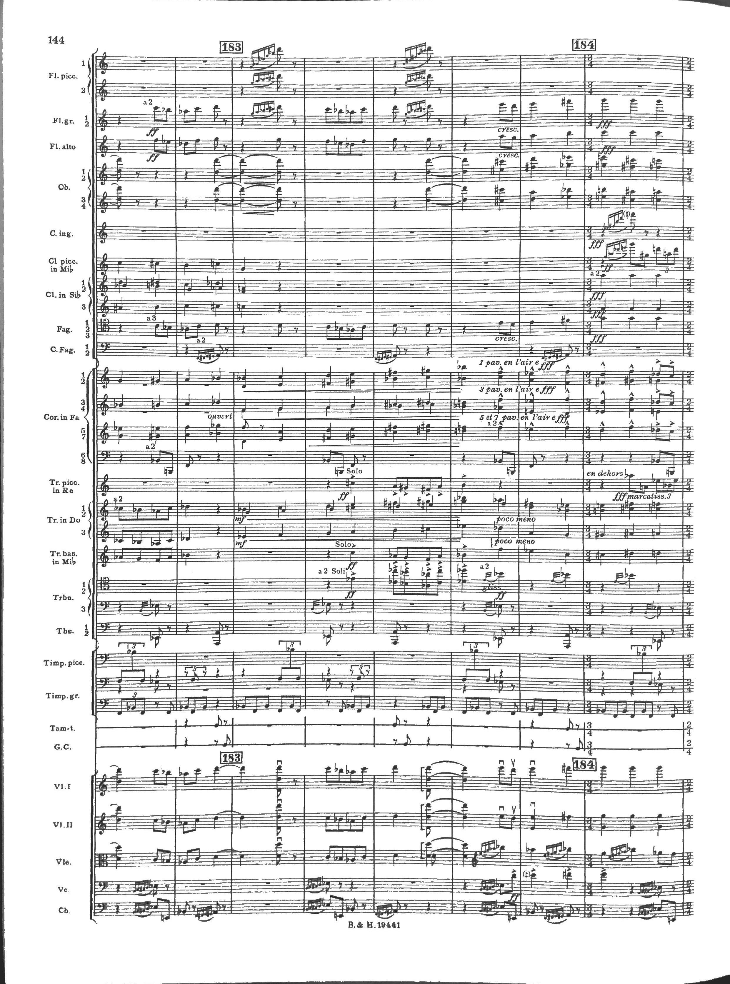 Partition chef d'orchestre