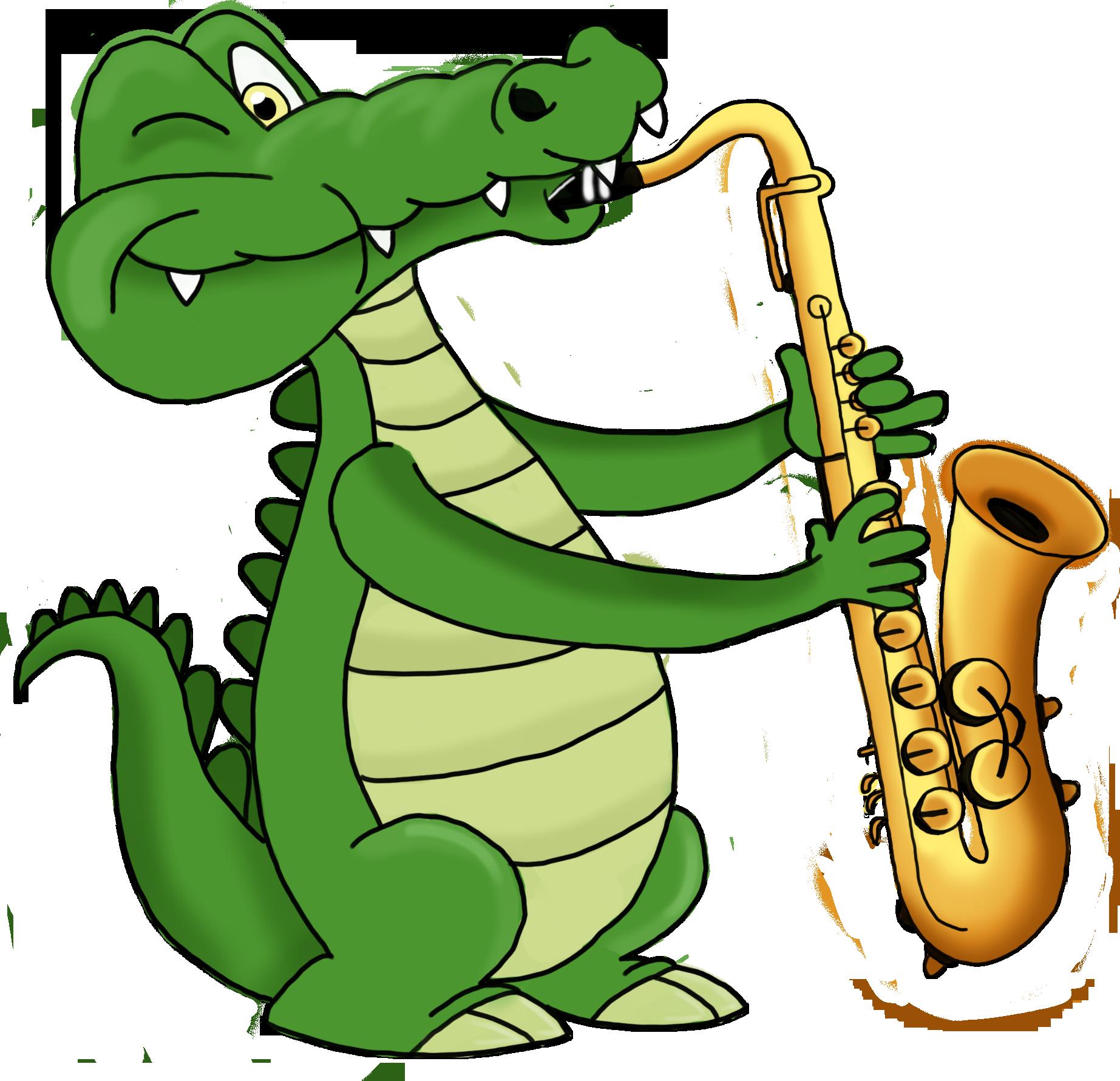 Crocodile saxophone