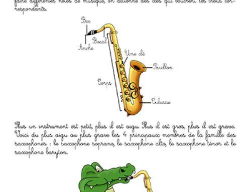Fiche : saxophone