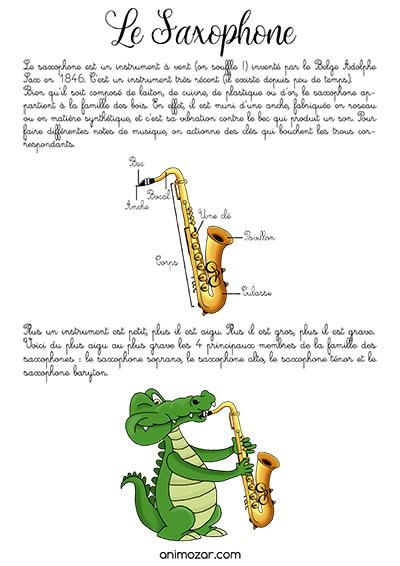 Fiche saxophone