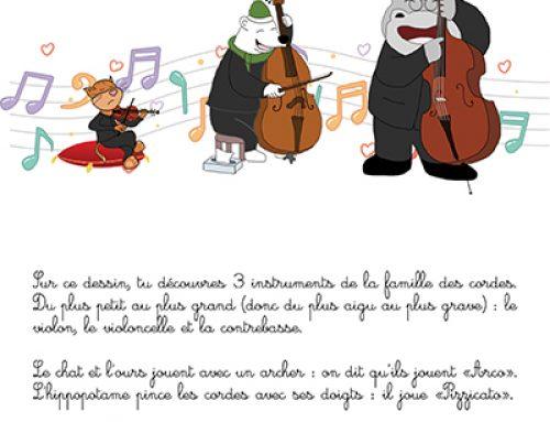 Fiche : violon, violoncelle, contrebasse