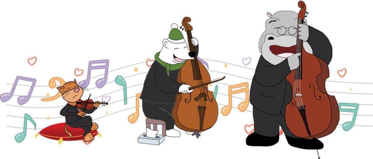 violon, violoncelle, contrebasse