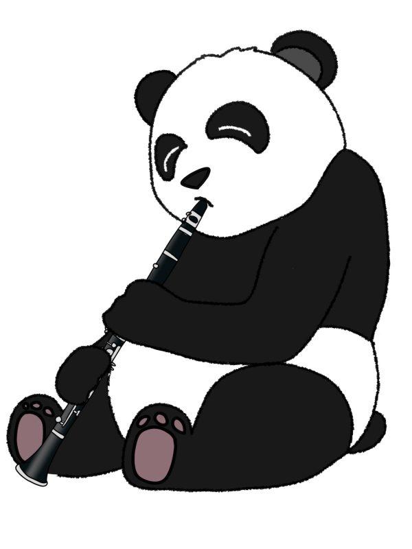 Panda Clarinette Animozar