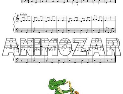 Partition : «Ah ! Les crocodiles» pour piano