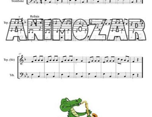 Partition : « Ah ! Les crocodiles » Duo trompette en Sib / Trombone