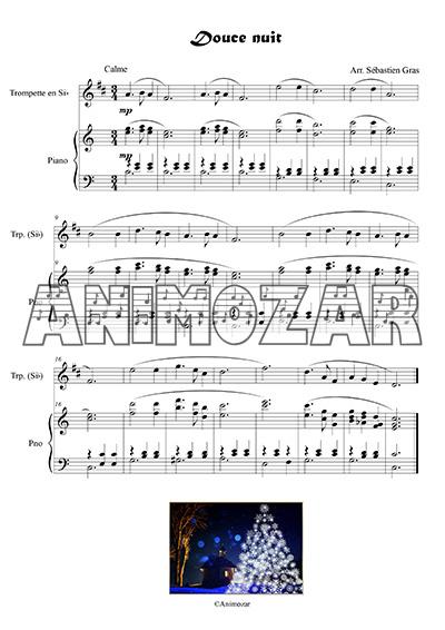 Douce nuit pour piano et trompette