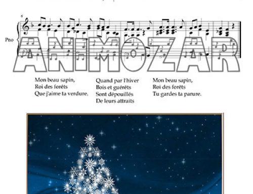 Partition : «Mon beau sapin» pour piano