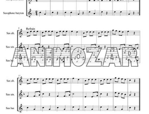 Partition : «Ah ! Les crocodiles» pour trio de saxophones