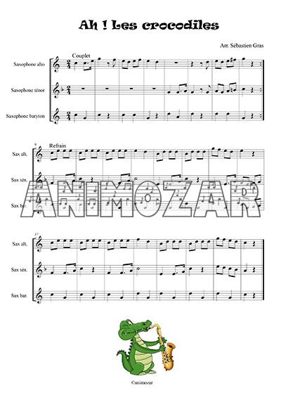 Ah les crocodiles trio de saxophones