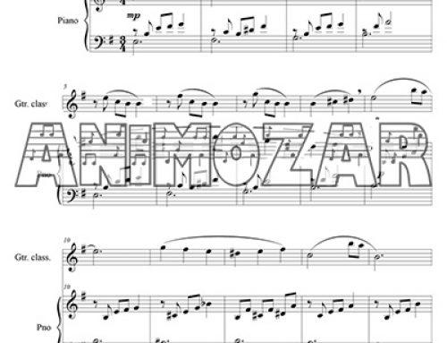 Partition : «Les papillons noirs» pour piano et guitare