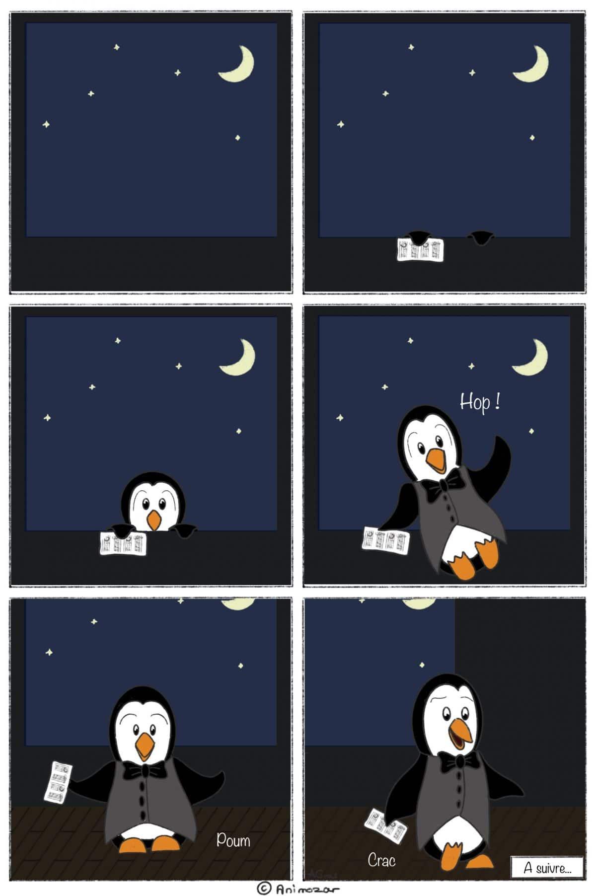BD Cette nuit Un pingouin Animozar