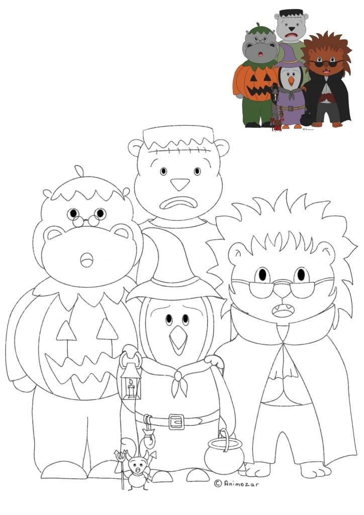 Coloriage Animozar Halloween
