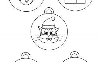 Coloriage Boules de Noël Animozar