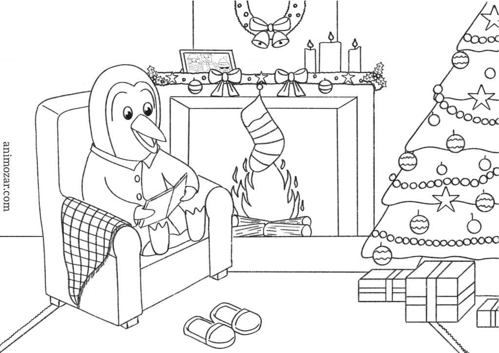 Coloriage Animozar Noël