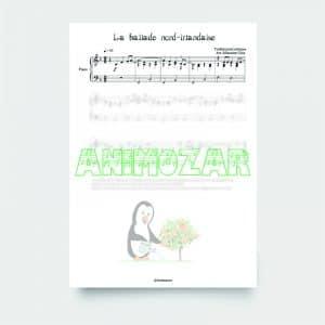 Partition : « La ballade nord-irlandaise » pour piano